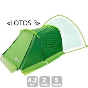 Фото Летняя палатка Лотос 3 Саммер спальная
