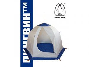 Фото Зимняя палатка Пингвин 2 с внутренними порогами и полом (1-сл.) бело-синий
